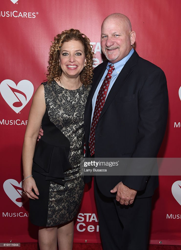 Democratic National Committee Chair Debbie Wasserman Schultz (L) and Steve Schultz attend the 2016 MusiCares Person of the Year honoring Lionel Richie at the Los Angeles Convention Center on February 13, 2016 in Los Angeles, California.