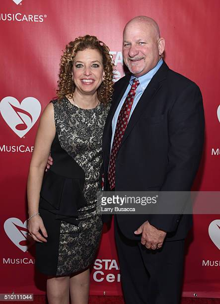 Democratic National Committee Chair Debbie Wasserman Schultz and Steve Schultz attend the 2016 MusiCares Person of the Year honoring Lionel Richie at...
