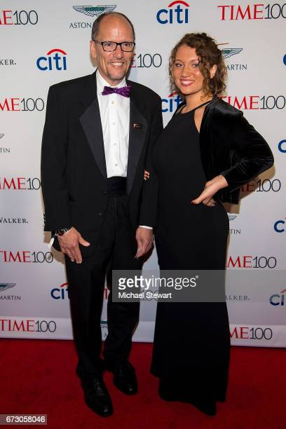 Democratic National Committee Chair Tom Perez and Amalia Perez attend the 2017 TIME 100 Gala at Jazz at Lincoln Center on April 25 2017 in New York...