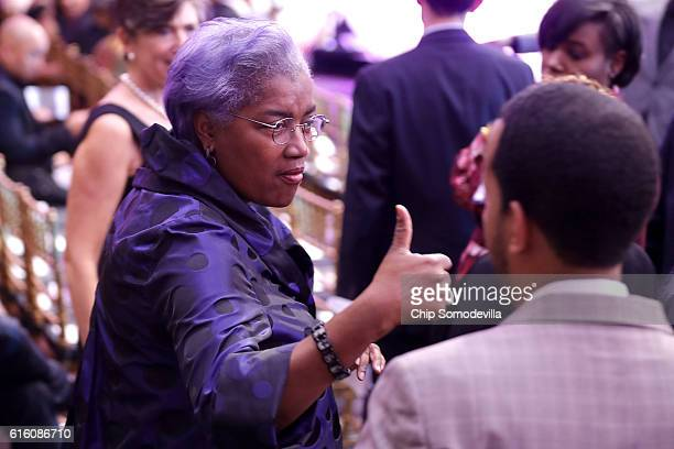 Democratic National Committee Interim Chairperson Donna Brazile attends the BET's 'Love and Happiness A Musical Experience' in a tent on the South...