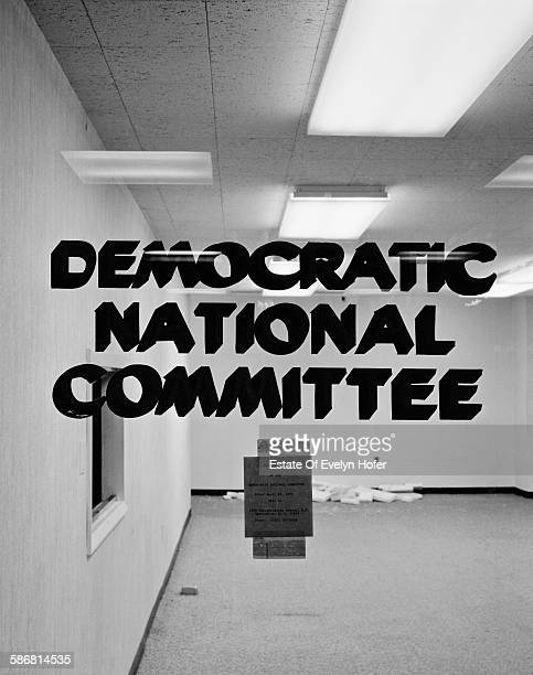 Democratic National Committee Main Glass Entrance Door Watergate hotel Washington 1974