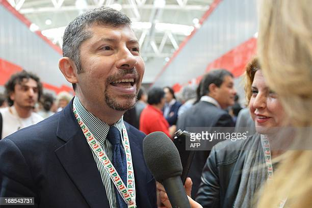 Democratic party Ivan Scalfarotto arrives for the general assembly of the party on May 11 2013 in Rome The PD leftwing party is holding a summit the...