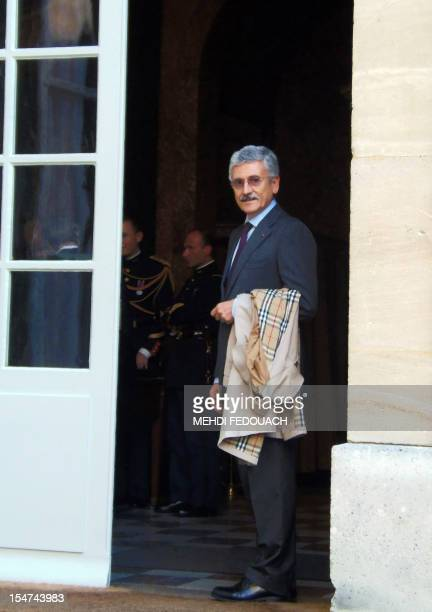 Democratic Party member of parliament and president of the European foundation for Progressive Studies Massimo D'Alema arrives on October 25 2012 at...