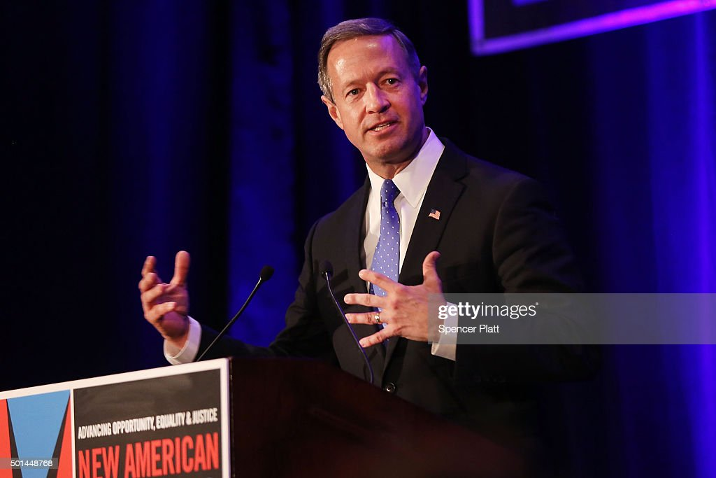 Democratic presidential candidate and former Maryland Gov. <a gi-track='captionPersonalityLinkClicked' href=/galleries/search?phrase=Martin+O%27Malley&family=editorial&specificpeople=653318 ng-click='$event.stopPropagation()'>Martin O'Malley</a> speaks at the the National Immigrant Immigration Conference on December 14, 2015 in New York City. The Maryland governor is currently in third-place in the race with Hillary Clinton and Bernie Sanders.
