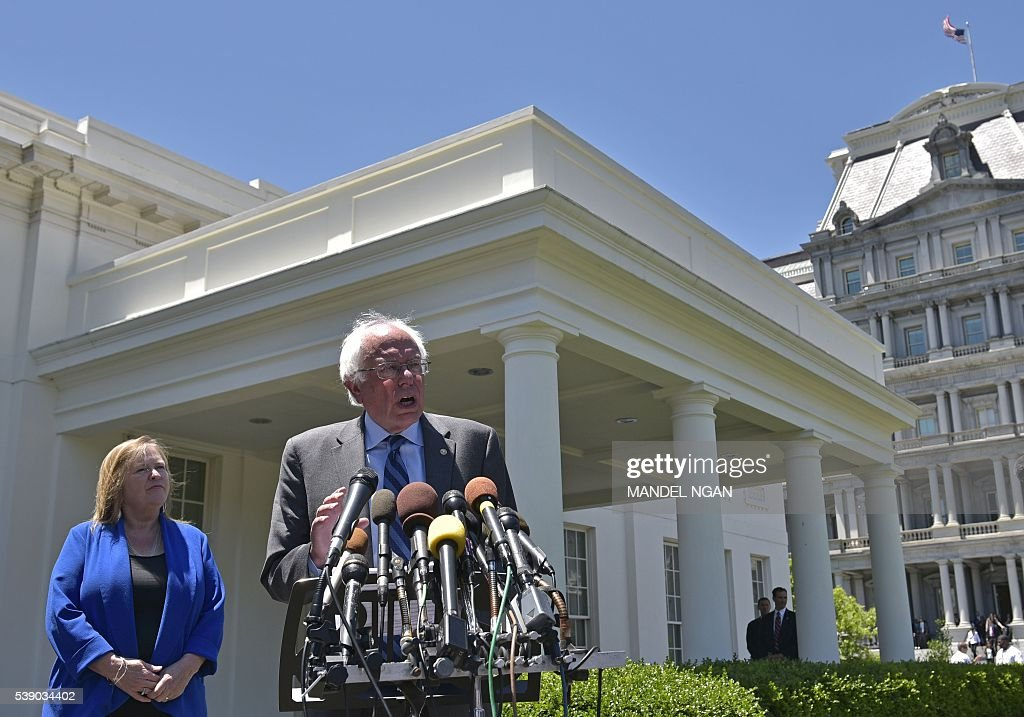 President Obama Meets With Bernie Sanders At The White