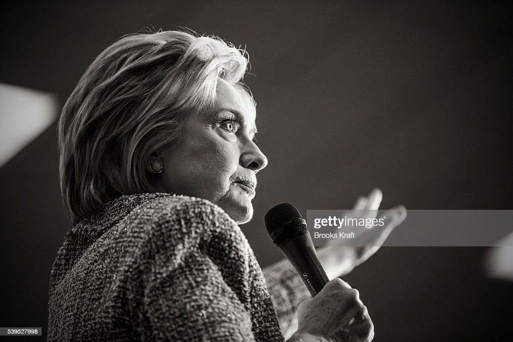 Democratic presidential candidate former Secretary of State Hillary Clinton speaks during a campaign event May 25 2016 in Buena Vista California