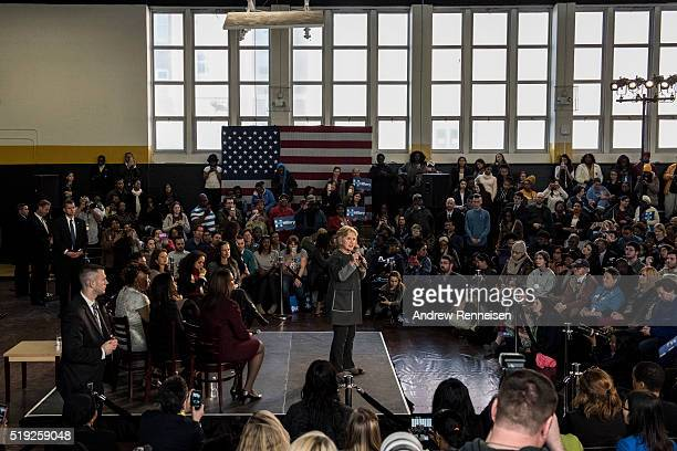 Democratic Presidential Candidate Hillary Clinton hosts a Women for Hillary Town Hall meeting with New York City First Lady Chirlane McCray and New...