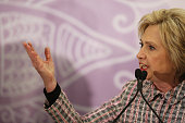Democratic presidential candidate Hillary Clinton speaks before the third annual Circle of Mothers conference put on by the Trayvon Martin Foundation...