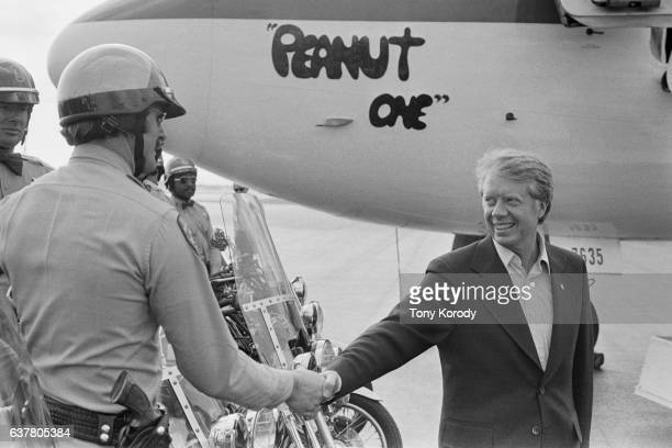 Democratic Presidential Candidate Jimmy Carter Leaving California Aboard the Peanut One