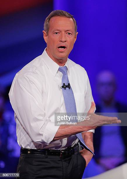 Democratic presidential candidate Martin O'Malley participates in a town hall forum hosted by CNN at Drake University on January 25 2016 in Des...