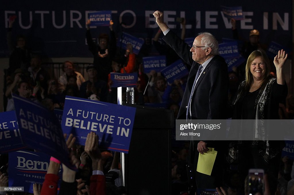 Democratic Presidential Candidate Bernie Sanders Holds Iowa Caucus Night Gathering