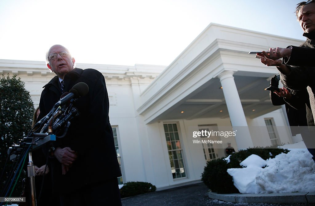 Democratic Presidential Candidate Sen Bernie Sanders