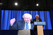 Democratic presidential candidate Sen Bernie Sanders of Vermont speaks at the New Hampshire Democratic Party Convention in Manchester New Hampshire...