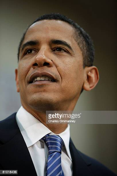 Democratic presidential candidate Senator Barack Obama speaks during a town hall meeting in Reading Pennsylvania on April 20 2008 Obama's camp warned...