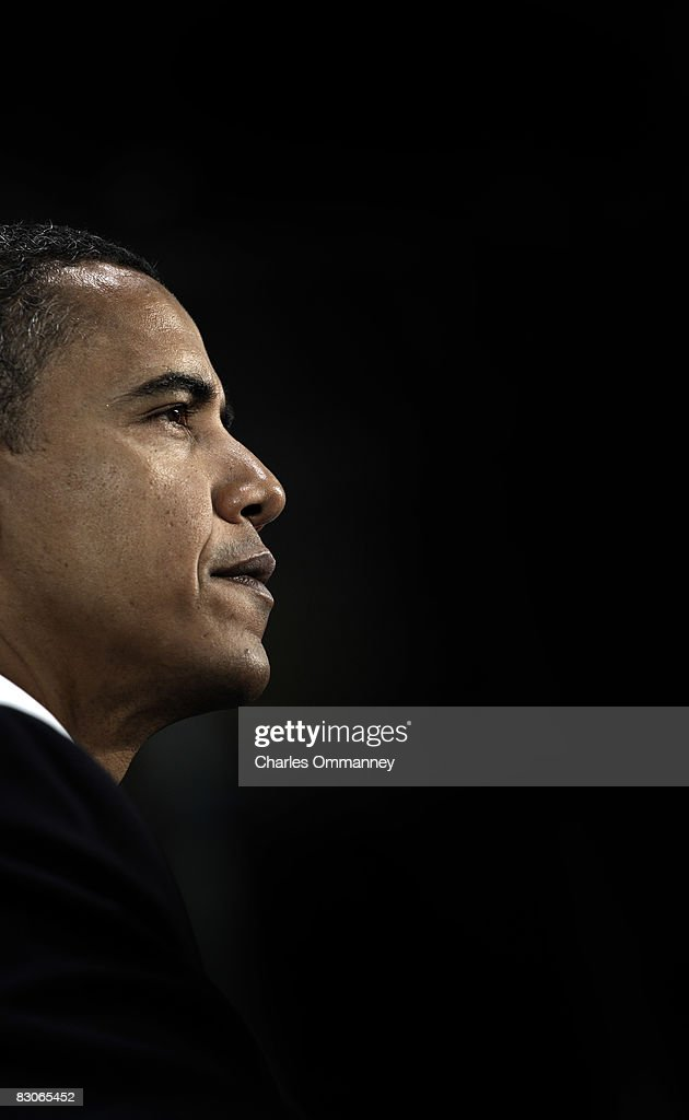 Democratic presidential candidate US Sen Barack Obama addresses supporters at a campaign rally at the Colorado School of Mines' Lockridge Arena...
