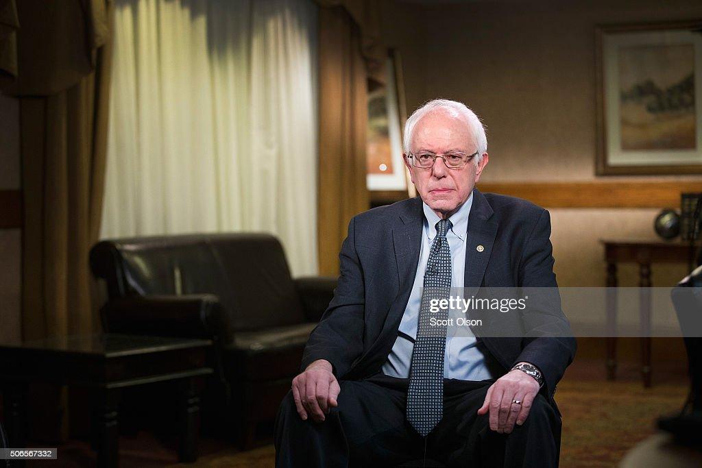 Bernie Sanders Interviewed In Dubuque, Iowa