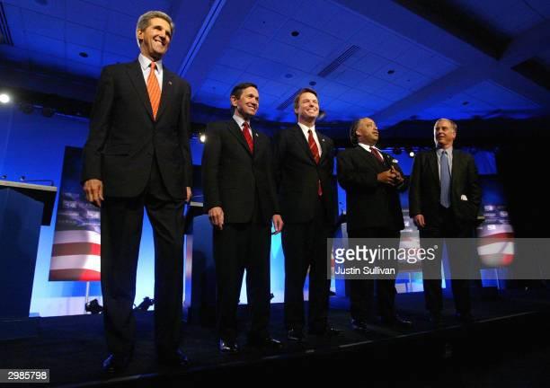 Democratic presidential hopefuls Senator John Kerry Rep Dennis ...