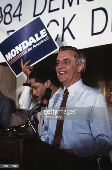 Democratic presidential nominee Walter Mondale at the 1984 Democratic National Convention in the Moscone Center
