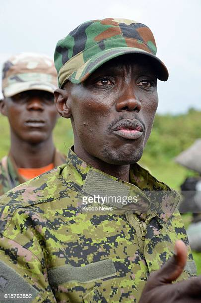 GOMA Democratic Republic of Congo Col Sultani Makenga commander of the M23 rebel movement is pictured near Sake in the eastern part of the Democratic...