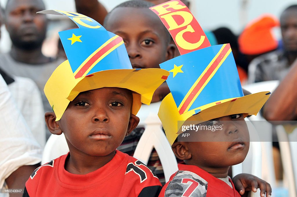 Democratic Republic of Congo's fans watch the Africa Cup of Nations 2013 football match Mali vs Democratic Republic of Congo on a giant screen in Kinshasa on January 28, 2013.