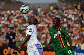 Democratic Republic of the Congo Firmin Ndombe Mubele vies with Zambia's Emmanuel Mbola during the 2015 African Cup of Nations group B football match...