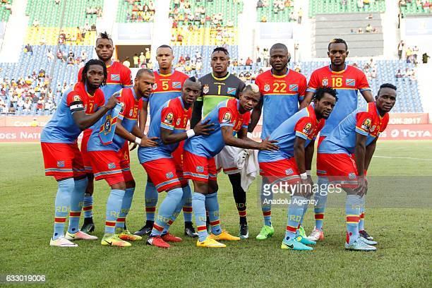 Democratic Republic of the Congo national team pose for a photo before the Africa Cup of Nations quarter final soccer match between DR Congo and...