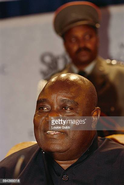 Democratic Republic of the Congo President Laurent Kabila during the Southern Africa Economic Summit held in Windhoek Namibia
