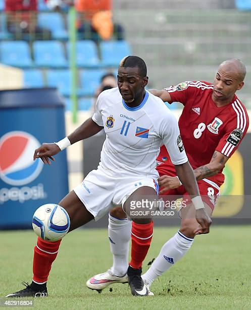 Democratic Republic of the Congo's forward Yannick Bolasie challenges Equatorial Guinea's midfielder Randy during the 2015 African Cup of Nations...