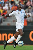Democratic Republic of the Congo's forward Yannick Bolasie controls the ball during the 2015 African Cup of Nations group B football match between...