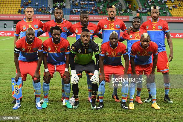 Democratic Republic of the Congo's squad defender Marcel Tisserand midfielder Merveille Bokadi defender Chancel Mbemba forward Jonathan Bolingi...