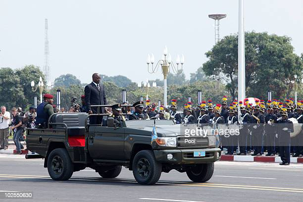 Democratic Repuplic of Congo President Joseph Kabila attends the 50th anniversary parade marking the independence of the Democratic Republic of Congo...
