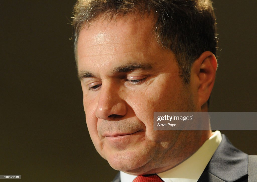 Democratic Senate candidate Bruce Braley thanks supporters during his concession speech November 4, 2014 in Des Moines, Iowa. Braley was defeated by Republican challenger Joni Ernst to fill the seat held by retiring U.S. Sen. Tom Harkin.