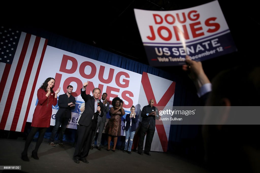 Doug Jones Holds Get Out The Vote Rally On Eve Of Alabama Senate Election