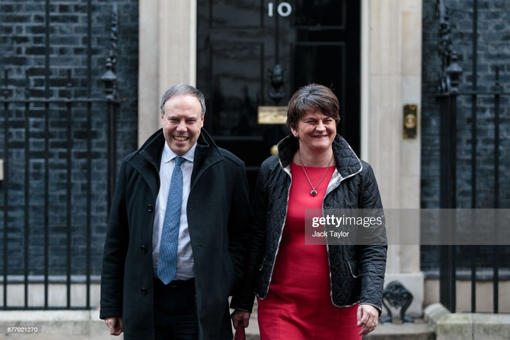 Sinn Fein And DUP Leaders Meet With Theresa May At Downing Street