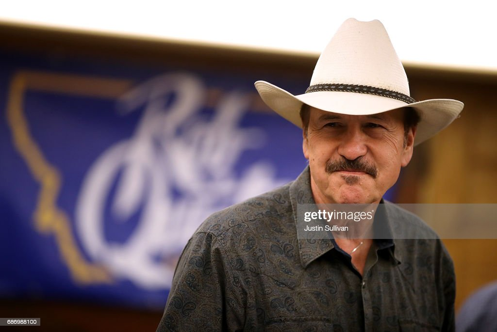 Democratic U.S. Congressional candidate Rob Quist looks on during a gathering with supporters at Darkhorse Hall and Wine Snug on May 22, 2017 in Great Falls, Montana. Rob Quist is campaigning throughout Montana ahead of a May 25 special election to fill Montana's single congressional seat. Quist is in a tight race against republican Greg Gianforte.