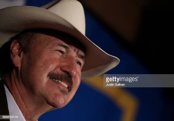 Democratic US Congresstional candidate Rob Quist delivers his concession speech to supporters at the DoubleTree by Hilton Hotel MissoulaEdgewater on...