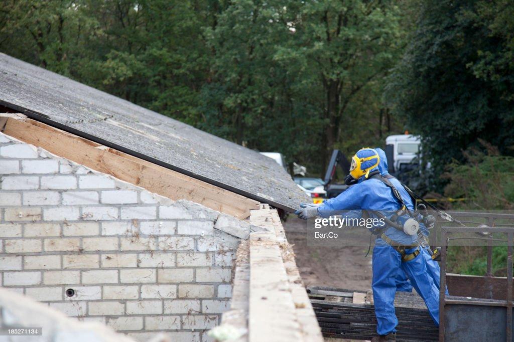 'Demolition site, remove asbestos'