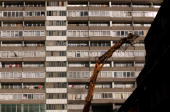 Demolition work takes place on the huge Aylesbury council estate in Southwark home to 7500 people on September 21 2010 in London England The...