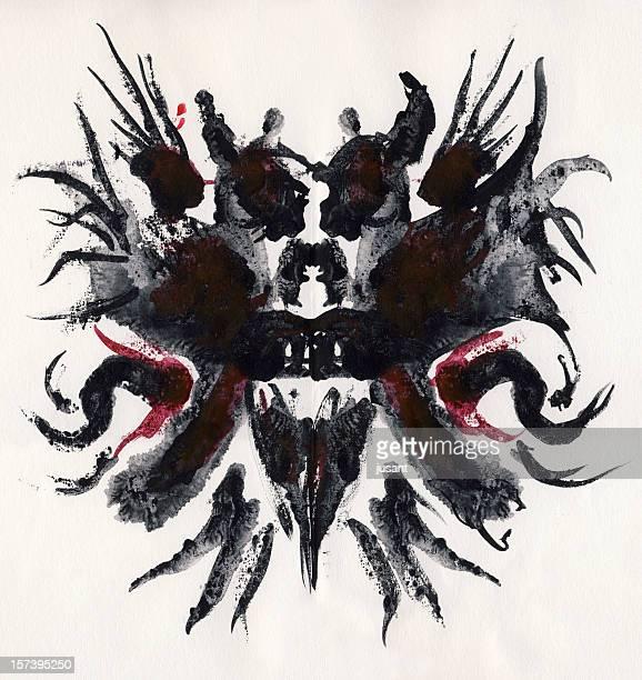 Demon watercolor painting