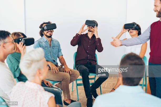 Demonstrating VR technology