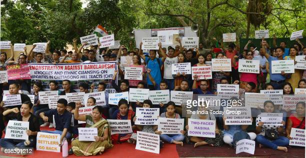 Demonstration against Bangladeshi Atrocities and ethnic cleansing on minorities in New Delhi