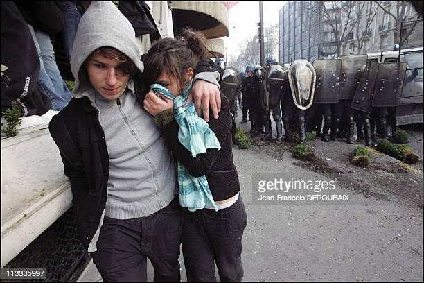 Demonstration Against Cpe On March 16Th 2006 In Paris France Here Violent Clashes Broke Out Last Night Between Hundreds Of French Youths Protesting...