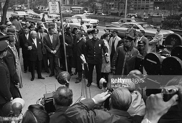 Demonstration Against The Coming Of Nikita Khrushchev At The United Nations In New York EtatsUnis New York 21 septembre 1960 Alors que le Président...