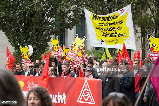 Demonstration against TTIP and CETA in Frankfurt, Germany