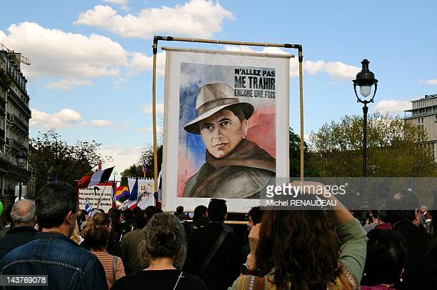 Demonstration during annual protest march celebrating May Day on May 1 2012 in Paris France