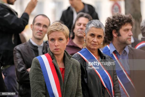 Demonstration in Paris France on September 20 against the TransAtlantic Free Trade Agreement and EUCanada Comprehensive Economic and Trade Agreement...
