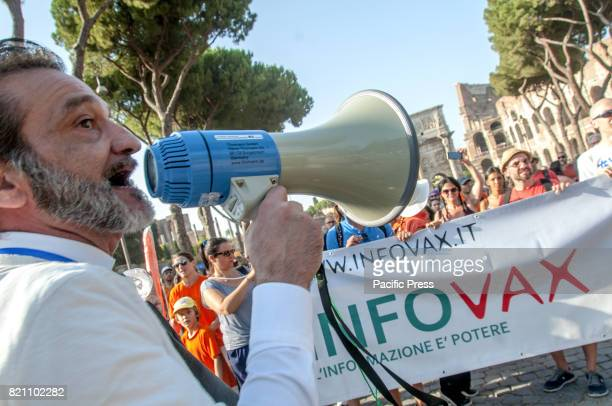 Demonstration in Rome to ask for freedom of choice vaccination against the decree of the Minister of Health Beatrice Lorenzin approved two days ago...