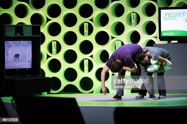 A demonstration is given of 'Project Natal' at Microsoft's XBox 360 media briefing to open the Electronic Entertainment Expo on June 1 2009 in Los...