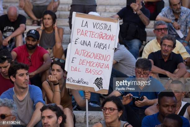 CAMPIDOGLIO ROMA RM ITALY Demonstration of the movement for the right to housing at the Capitol in Rome