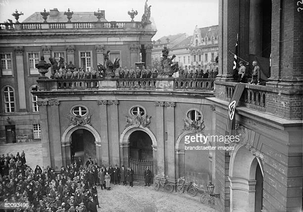 Demonstration of the 'Nationalsozialistische Deutsche Arbeiterpartei' at the Stadtschloss in Potsdam Photograph Feb 13th 1933 [Kundgebung der...